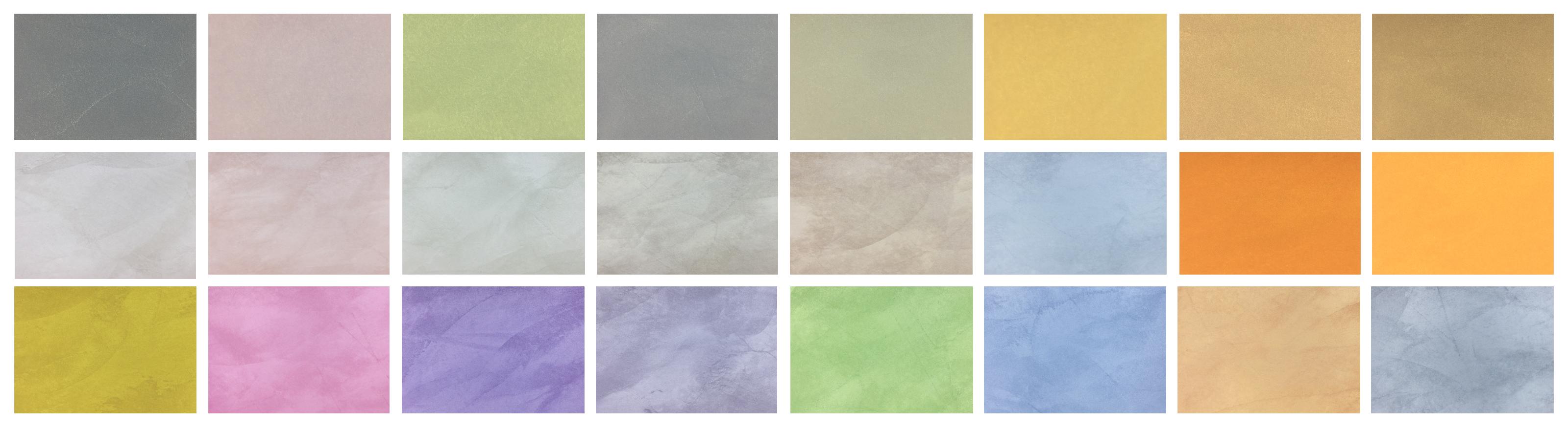 Stuco-kleurstalen